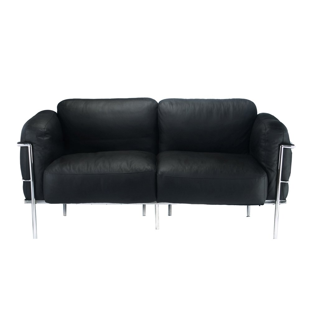Bethany | Le Corbusier  Down-Filled Loveseat Furniture-Living Room-Loveseats & Settees