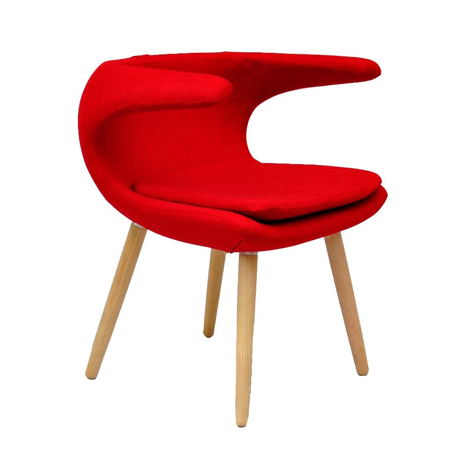 clipper chair - red
