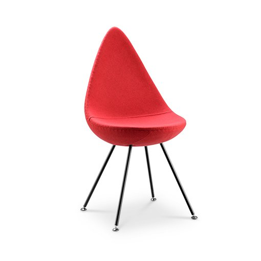 Replica Arne Jacobsen Drop Chair - red