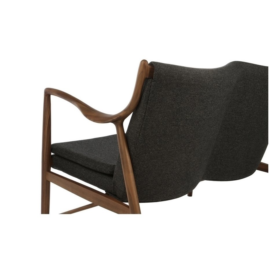 finn juhl model 45 loveseat - walnut