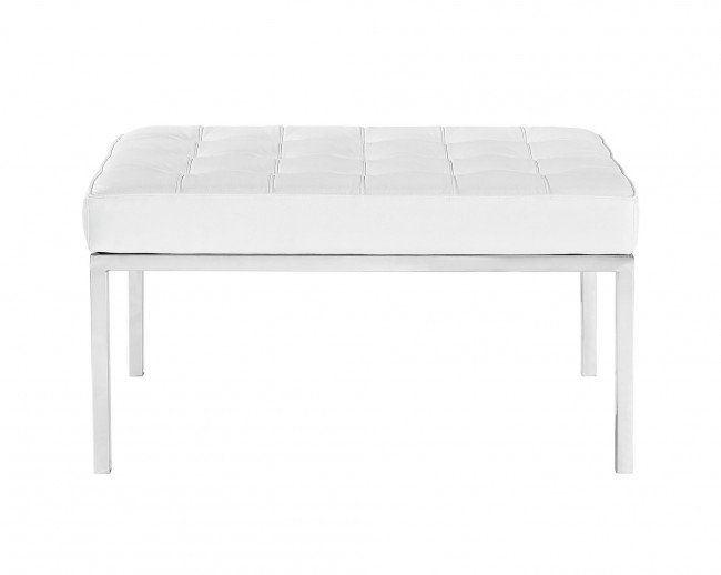 florence 2-seater bench - leather