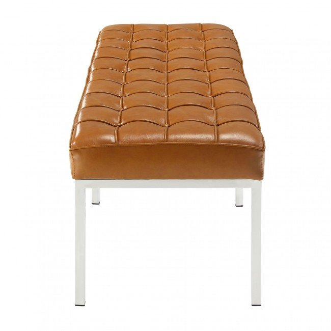florence 3-seater bench - leather