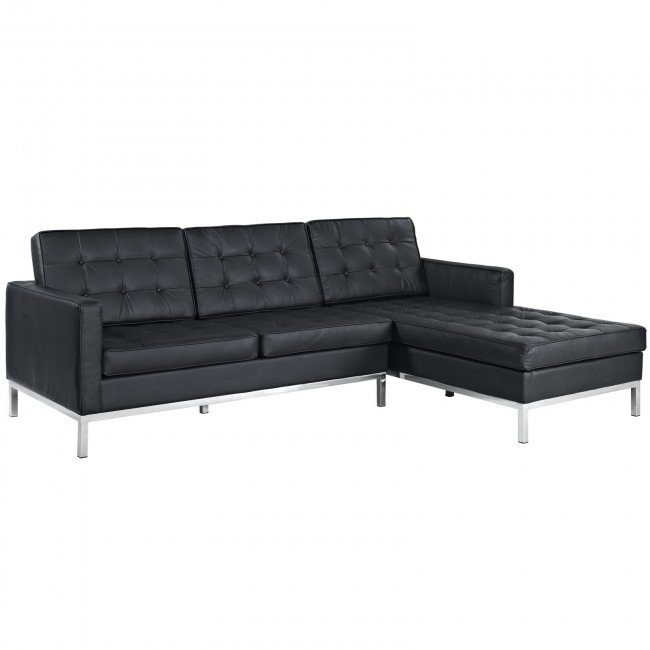 florence leather sectional sofa