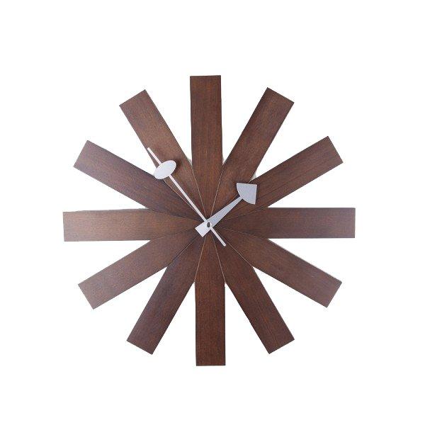 nelson-type walnut asterisk clock