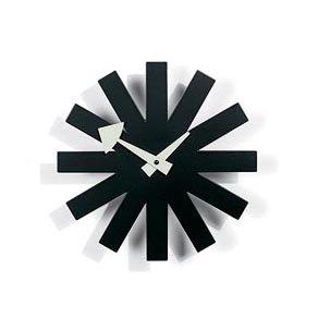 nelson-type black asterisk clock