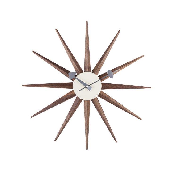nelson-type sunburst clock - walnut