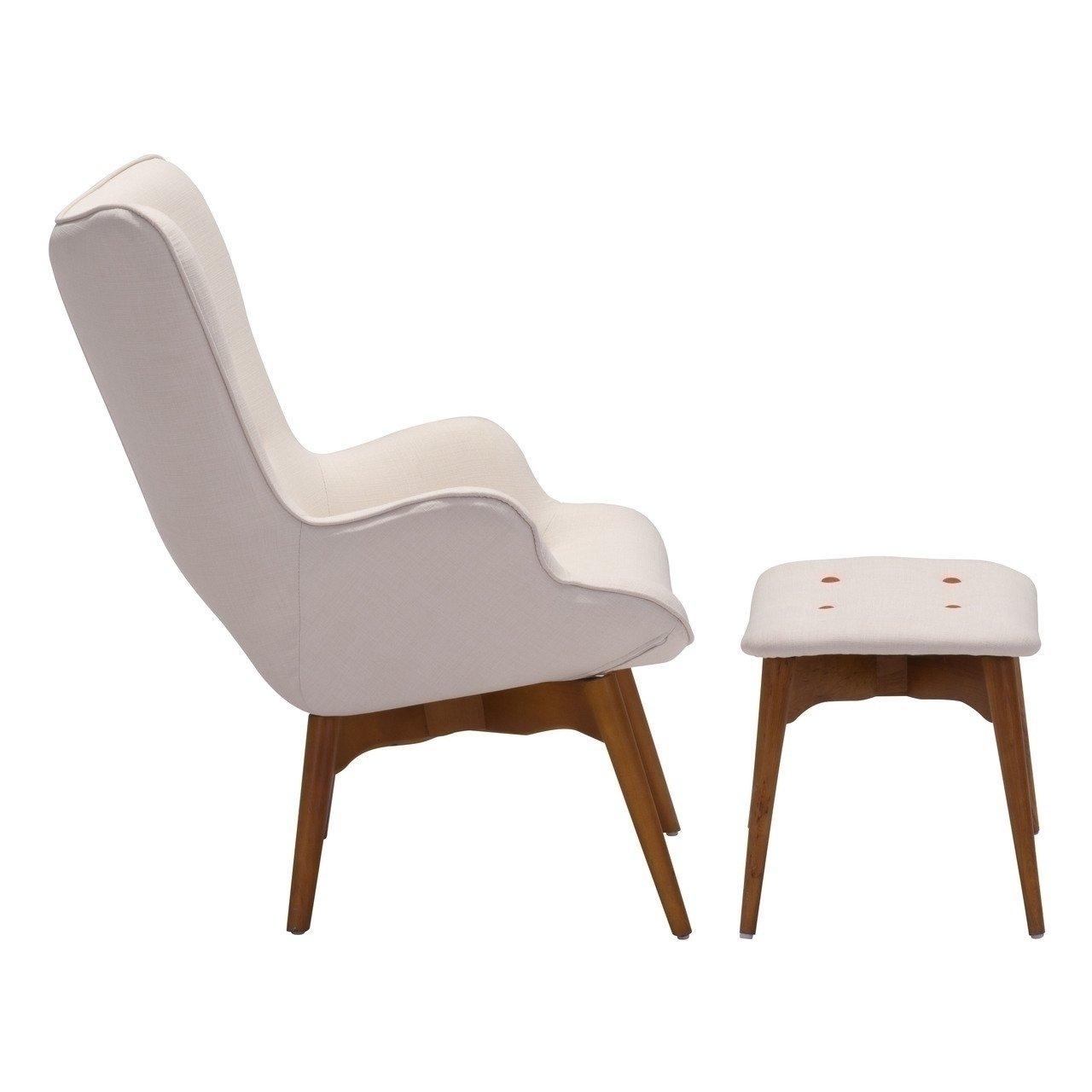 grant featherston chair & ottoman - cream