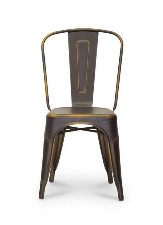french industrial bistro dining chair set