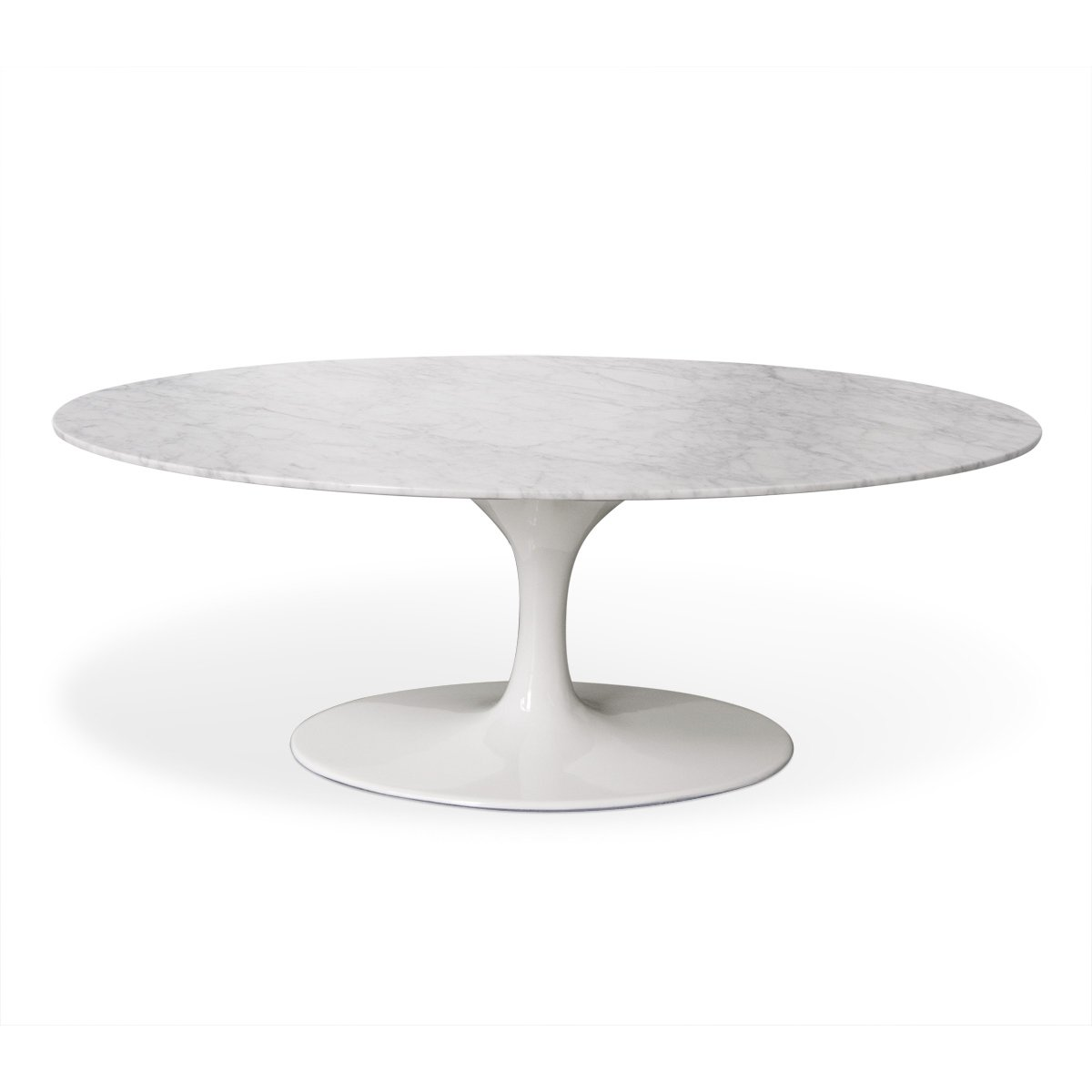 42 Oval Marble Tulip Coffee Table