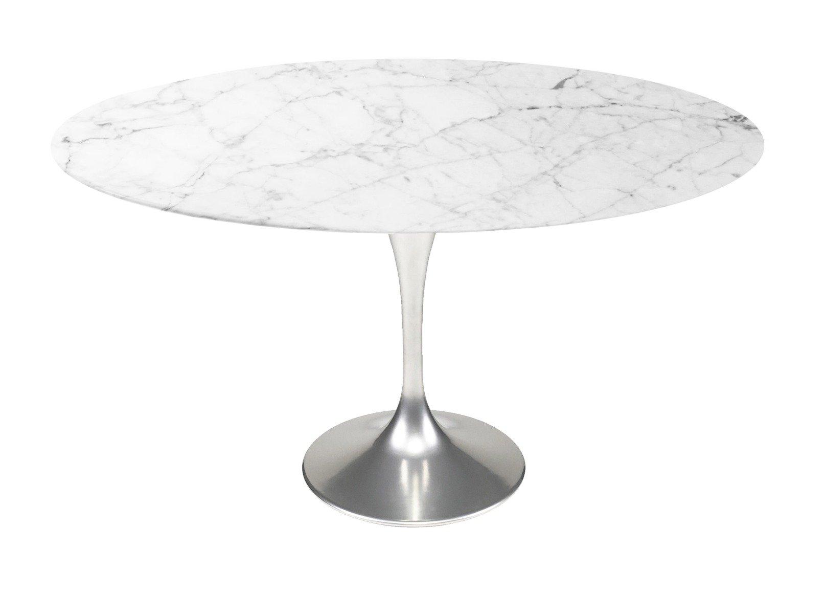 Saarinen 54 Round Marble Tulip Dining Table Eero Saarinen Njmodern Furniture