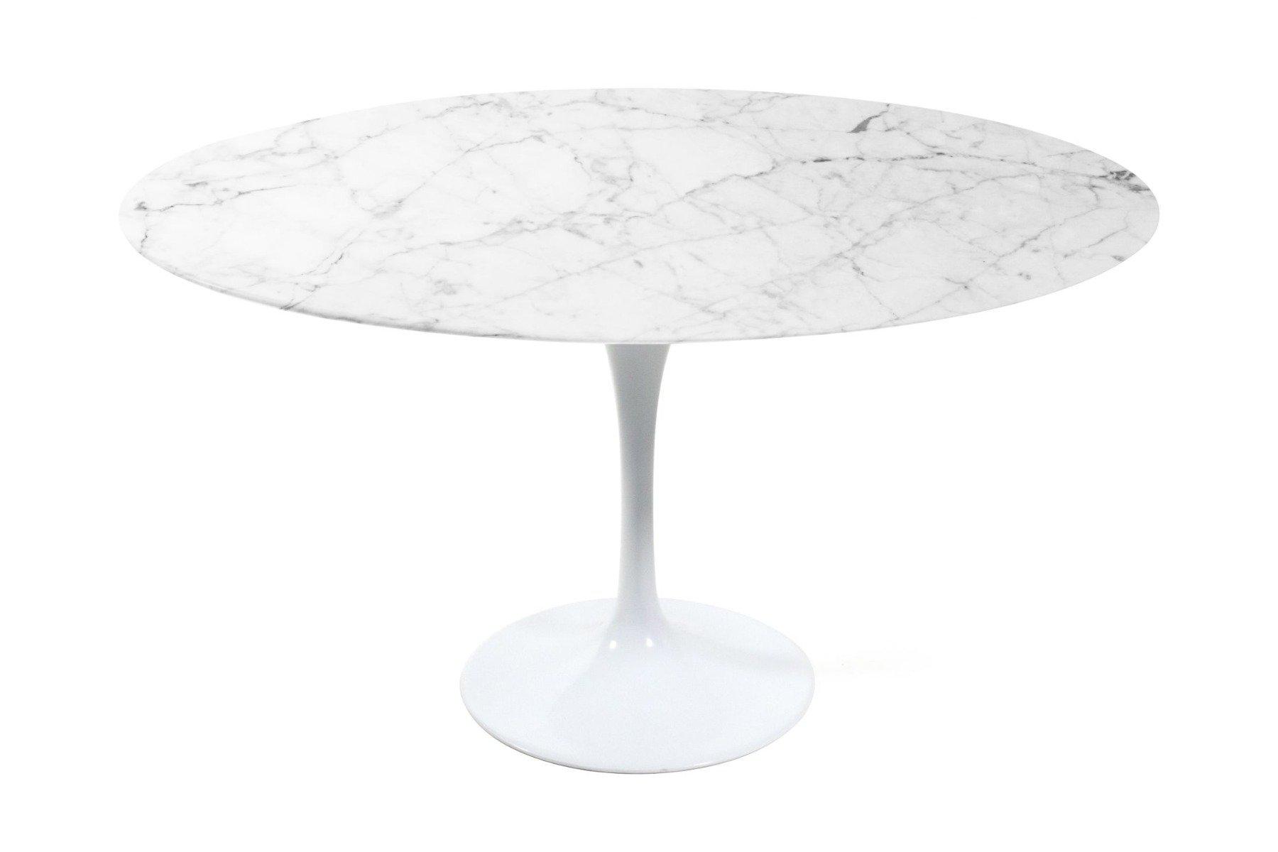Saarinen 36 Round Tulip Marble Dining Table Eero Saarinen Njmodern Furniture