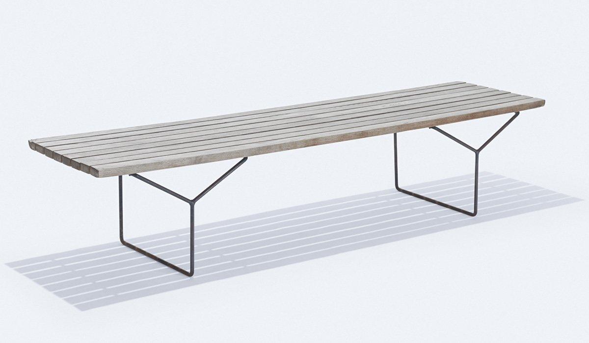 Mid-Century Modern Bench: Slat Bench Harry Bertoia - HONORMILL