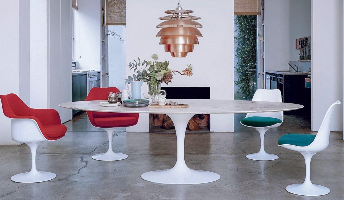Mid Century Modern Tulip Chairs by Eero Saarinen - HONORMILL Furniture NYC